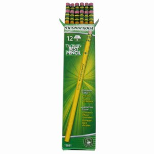 Dixon Ticonderoga Pencil, with Eraser, No 1, Extra Soft