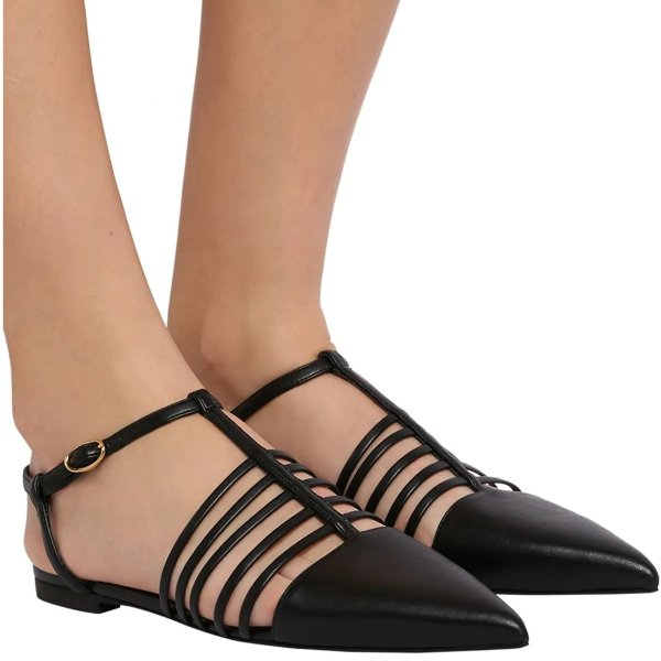10MM FAUX LEATHER FLATS