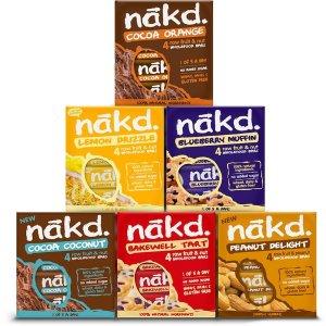 48根仅£26.99 健康小零食Nakd无糖能量谷物棒 补充身体所需的膳食纤维