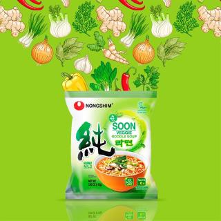 $9.6 包邮NongShim 农心蔬菜泡面 3.95 oz. 10包装