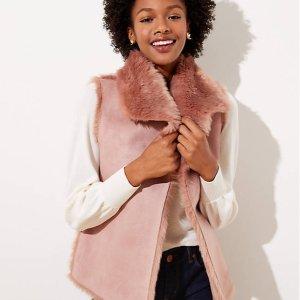 LOFT Faux Fur Vest Sale