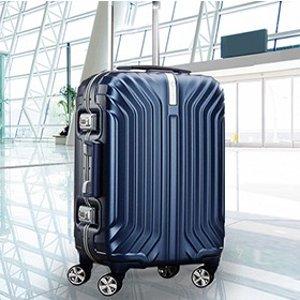 低至4折 $144收Novaire玫瑰金登机箱新秀丽官网行李箱周末促销,$180收明星同款Tru-Frame