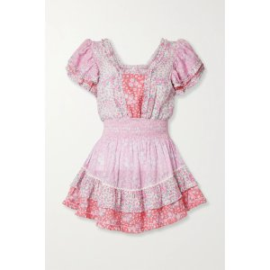 LoveShackFancyStanton patchwork 粉色碎花裙