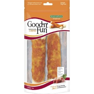 $3.98 买2送1Good 'n' Fun 3合1宠物零食 牛肉味