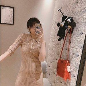 Maje奶茶色针织裙