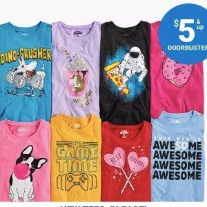 $5-$7/件 原价$14OshKosh BGosh 儿童T恤全面上新 有春夏款 100%棉