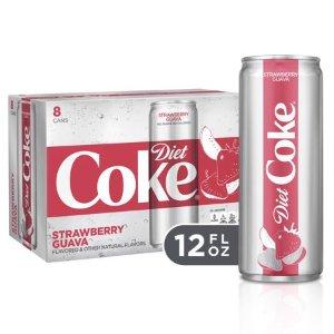 Diet Coke Strawberry Guava Diet Soda Soft Drinks, 12 fl oz, 8 Pack - Walmart.com