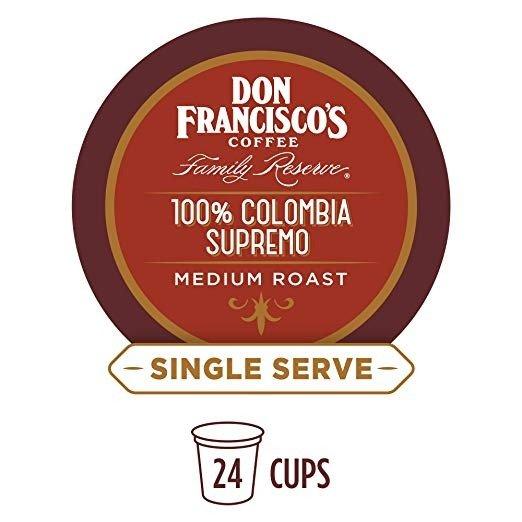 100%哥伦比亚中度烘烤咖啡 24颗