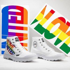 低至3折 封面彩虹限定$90入Palladium 经典法式潮靴好价回归 $50收断码饼干鞋
