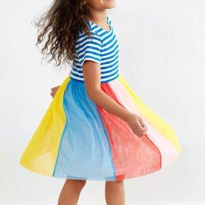 5折起 包邮Hanna Andersson 女童连衣裙促销 细节超级精彩