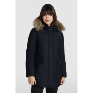 WoolrichPremium wool luxe Arctic Parka with coyote fur Black