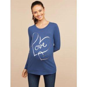 MotherhoodLove™ Maternity Crew Neck Shirt