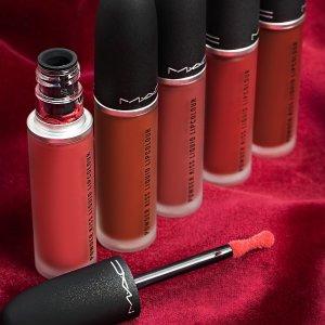 低至6.6折+送2只自选口红(价值$42)MAC Cosmetics美妆热卖 收超火唇泥鼻祖