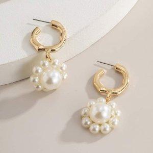 最后4对 $12.18DIDA 珍珠耳环特卖 精致girl必入 俏皮法式风
