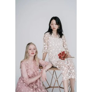 Ecru EmissaryAngelet Embroidery Dress