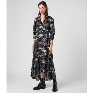 ALLSANTS黑色印花连衣裙