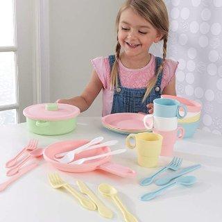 $8.4(原价$24.99)+包邮KidKraft 27件厨房玩具套装,可爱粉色系