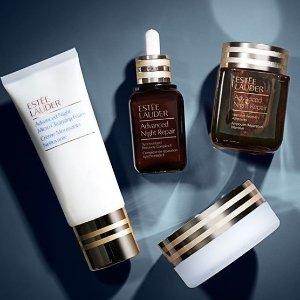 雅诗兰黛全线护肤彩妆热促  收小棕瓶、高能小棕瓶