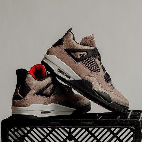 """2.27日 21点 $260+免邮预告:Nike官网 Air Jordan 4 """"Taupe Haze""""全新配色即将发售"""