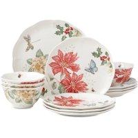 Lenox Butterfly Meadow 餐具节日12件套