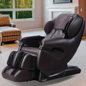 TitanPro Series Brown Faux Leather Reclining Massage Chair-TP-8500BROWN - The Home Depot