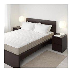 IkeaHAUGESUND Spring mattress - Queen, medium firm/dark beige - IKEA