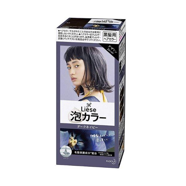 日本KAO花王 LIESE PRETTIA 泡沫染发剂 #暗夜蓝色 单组入 - 亚米网