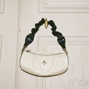 最高立享7.5折 Get蔡文静同款Manu Atelier  风尚美包促 新款Jackie、奶油白圆筒包$419收