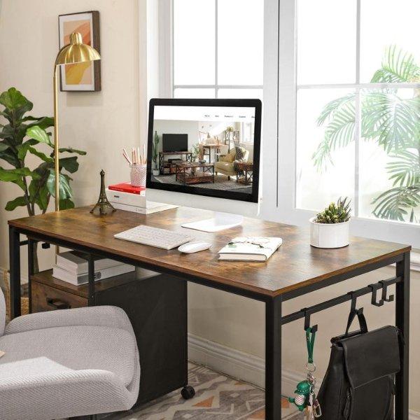 VASAGLE 木纹电脑办公桌 55.1英寸