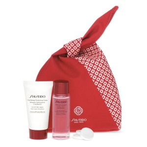 Shiseido洁面乳+保湿水套装