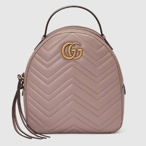 GUCCI Gg Marmont Matelassé Quilted Leather Backpack, Pink | ModeSens