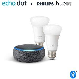 Amazon智能音响+智能灯泡Echo Dot 3.0 智能音响