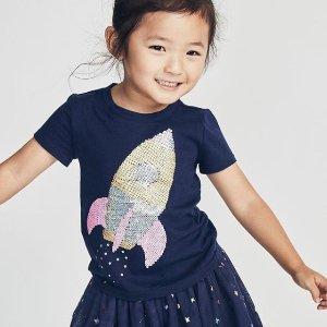 7折 + 满$40额外8折OshKosh BGosh 精选童装新款热卖 收T恤、纱裙、连衣裙