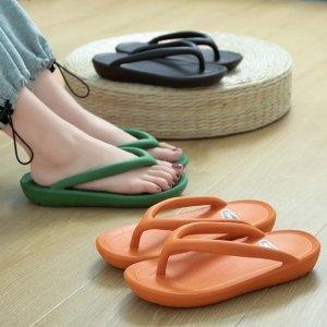 低至€7.39 居家/度假必备夏季新款人字拖 防水防滑耐腐蚀 鞋底厚实舒适 颜色明亮