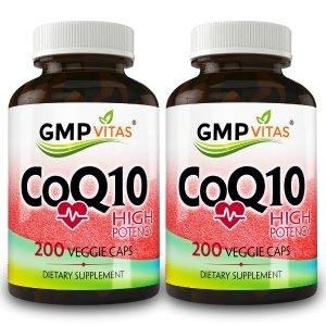 GMP Vitas® High Potency CoQ10 200 Veggie Cap 2-Bottle Bundle