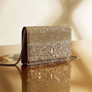 低至6折 €375收封面同款Jimmy Choo 美包专场年中大促提前享 收bling bling水晶包