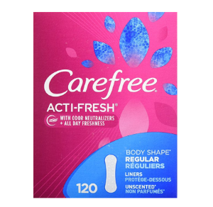 $5.64Carefree Acti-Fresh Panty Liners, Regular, Unscented - 120 Count