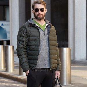 售价$34.99  尺寸不同价格不同Hawke & Co 男士轻量羽绒服夹克热卖
