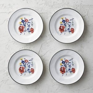 Garden Party Side Plates, Set of Four