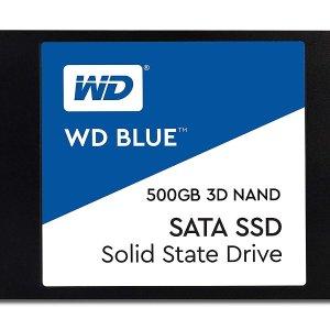 $79.99(原价$124.99)史低价:WD Blue 3D NAND 固态硬盘 500GB