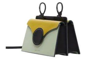 Danse Lente Mini Phoebe Colorblock Shoulder Bag, Green