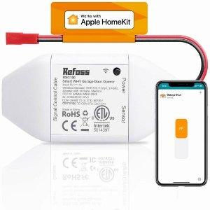 $50.99(原价$69.99)史低价:Refoss Apple HomeKit Wi-Fi 智能车库开门器 支持手机遥控