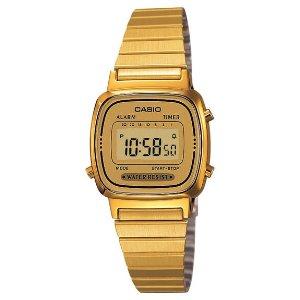 Casio 复古方块金表