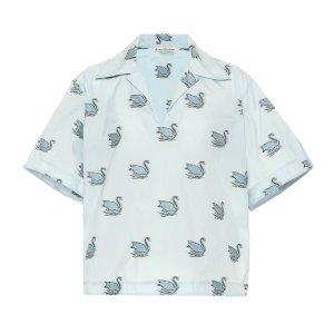 Acne Studios天鹅短款衬衣