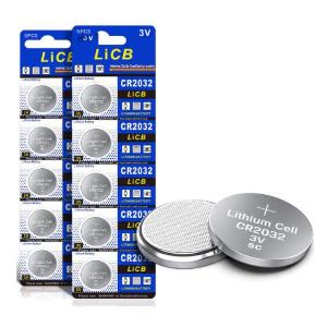 $5.94(原价$12.99)LiCB CR2032纽扣电池10个装 耐用持久 小身材大用途