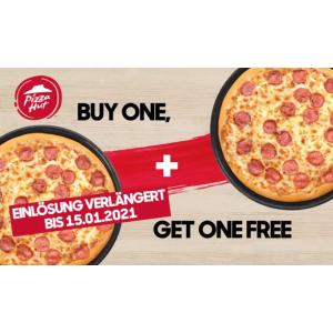 仅需€1 有效期至1月15日Pizza Hut 必胜客买1送1优惠券热卖 爱吃披萨的宝宝有福啦