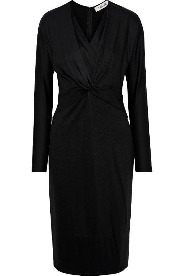 Regina twist-front 丝质连衣裙