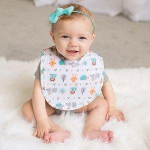 封面粉色同款,仅$1.47一个Trend Lab 婴儿围嘴4件套$5.89 (粉色格纹款) 凑单神器