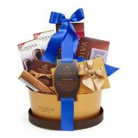经典蓝丝带巧克力礼篮