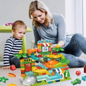 45% OffREMOKING Marble Run Building Blocks for Kids 3 Years and up(259Pcs)
